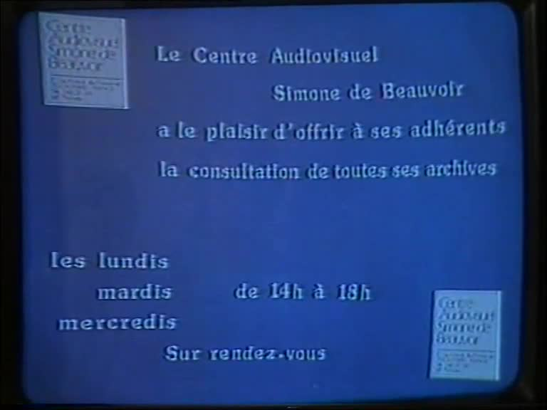 Centre audiovisuel Simone de Beauvoir : autoportrait (Le)